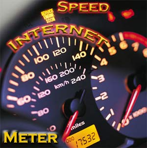 Internet download speed meter